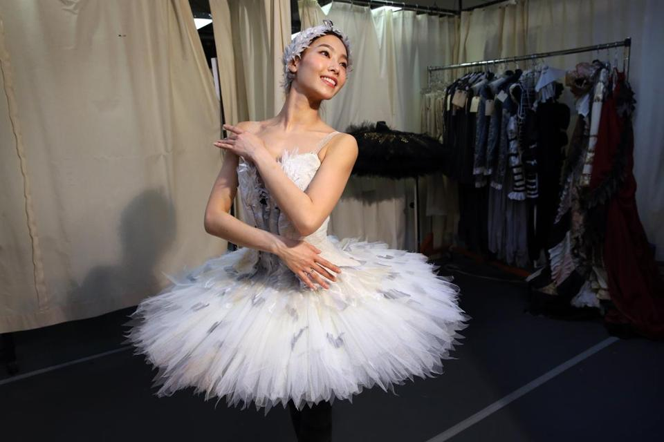 "Seo Hye Han, seen posing while being fitted for a ""Swan Lake"" costume, will be a principal dancer with Boston Ballet next season."